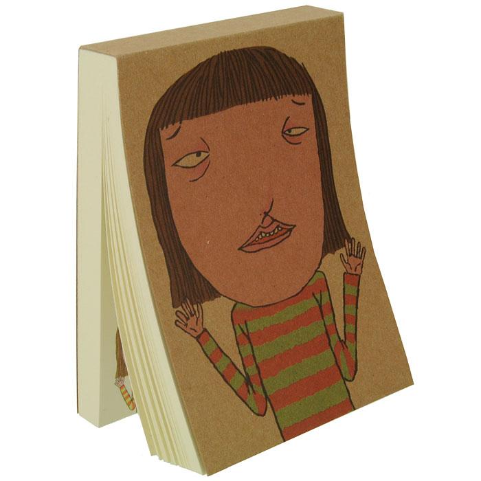 Блокнот Девочка0101018Блокнот Девочка послужит прекрасным местом для памятных записей, любимых стихов, рисунков и многого другого. Обложка из плотного картона декорирована изображением забавной девочки. Нелинованные страницы альбома оформлены изображением персонажа с обложки и его мыслями. Вы можете дорисовывать лицо человечку на каждой странице, и его настроение будет зависеть только от вашей фантазии!