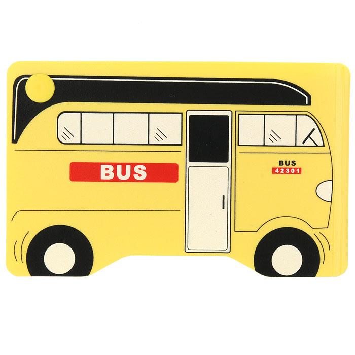 Кредитница Желтый автобус0605003Стильная кредитница Желтый автобус рассчитана на 10 карточек. Файлы из мягкого прозрачного пластика бережно сохранят ваши визитки и кредитные карты в одном месте. Нужная кредитка легко извлекается из обложки, благодаря специальному уголку. Обложка выполнена в виде городского автобуса желтого цвета.