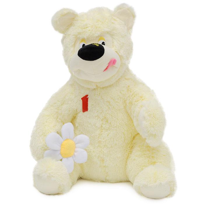 Мягкая игрушка Медведь Феликс, 60 смМВФ2Симпатичный медведь Феликс с ромашкой в лапе поднимет вам настроение и непременно вызовет улыбку! Он придется по душе каждому, кто возьмет его в руки, став замечательным подарком, как ребенку, так и взрослому. Игрушка выполнена из необычайного мягкого и приятного на ощупь материала и подарит своему обладателю мгновения нежных объятий и приятных воспоминаний. Мягкая игрушка может стать милым подарком, а может быть и лучшим другом на все времена. Характеристики: Набивка: полиэфирное волокно. Высота игрушки: 60 см.