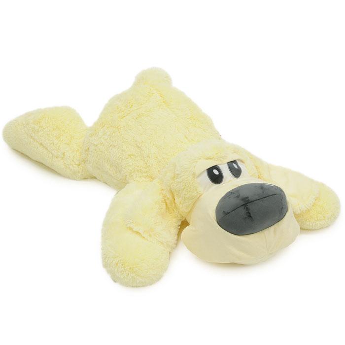 Мягкая игрушка Собака Сплюшка, 120 смСБС3Симпатичная собачка Сплюшка поднимет вам настроение и непременно вызовет улыбку! Она придется по душе каждому, кто возьмет ее в руки, став замечательным подарком, как ребенку, так и взрослому. Игрушка выполнена из необычайного мягкого и приятного на ощупь материала и подарит своему обладателю мгновения нежных объятий и приятных воспоминаний. Мягкая игрушка может стать милым подарком, а может быть и лучшим другом на все времена. Характеристики: Набивка: полиэфирное волокно. Длина игрушки: 120 см.