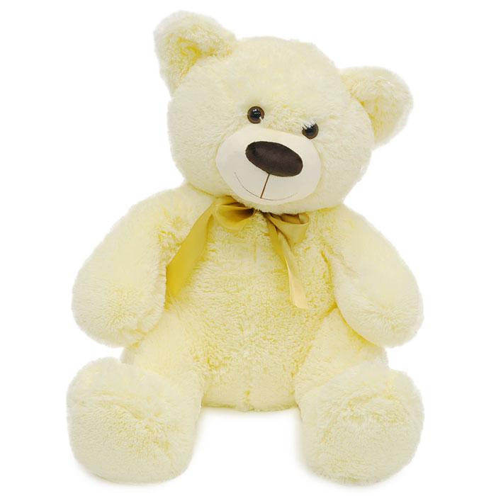 Мягкая игрушка Медведь Мика, 60 смММК2Симпатичный медведь Мика с бантиком поднимет вам настроение и непременно вызовет улыбку! Он придется по душе каждому, кто возьмет его в руки, став замечательным подарком, как ребенку, так и взрослому. Игрушка выполнена из необычайного мягкого и приятного на ощупь материала и подарит своему обладателю мгновения нежных объятий и приятных воспоминаний. Мягкая игрушка может стать милым подарком, а может быть и лучшим другом на все времена.