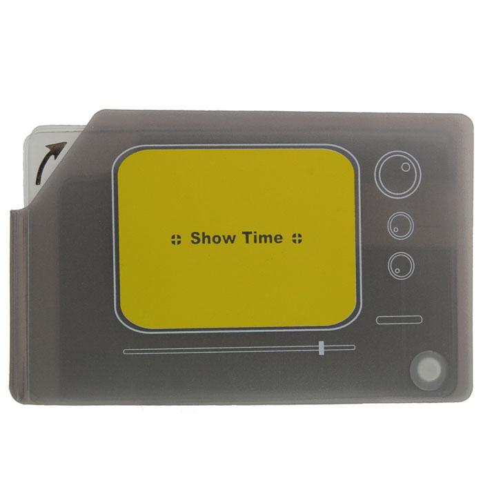 Кредитница Телевизор 0605009Стильная кредитница Телевизор рассчитана на 10 карточек. Файлы из мягкого прозрачного пластика бережно сохранят ваши визитки и кредитные карты в одном месте. Нужная кредитка легко извлекается из обложки, благодаря специальному уголку. Обложка выполнена в виде телевизора.