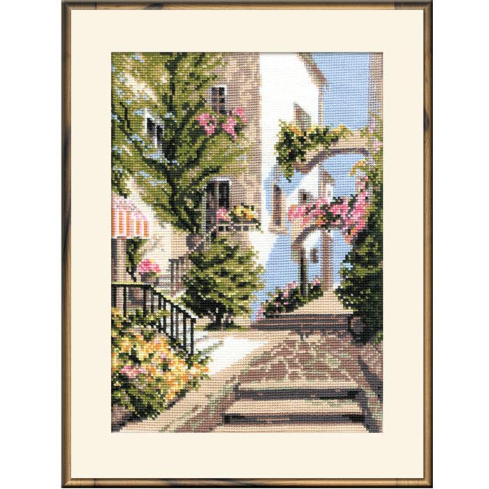 Набор для вышивания Итальянский дворик, 26 см х 38 см373Набор для вышивания крестом Итальянский дворик состоит из схемы вышивки, канвы и ниток из шерсти и акрила. С помощью такого набора вы сможете создать своими руками очаровательный рисунок-вышивку, которая оригинально украсит интерьер вашего дома и станет прекрасным подарком для ваших друзей и близких.