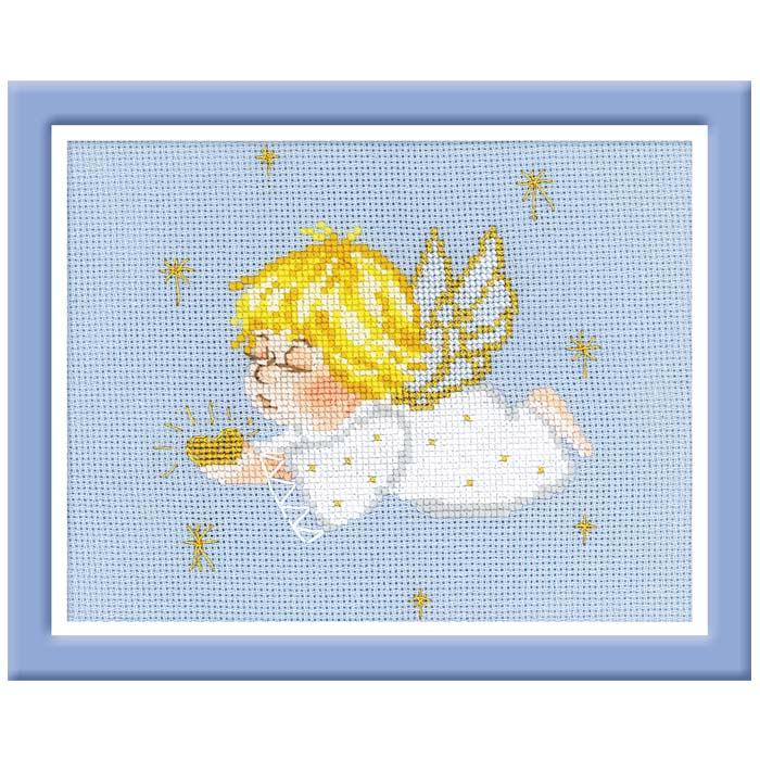 Набор для вышивания крестом Ангелочек с сердцем, 18 см х 15 см1135Красивый и стильный рисунок-вышивка, выполненный на канве, выглядит оригинально и всегда модно. В наборе для вышивания Ангелочек с сердцем есть все необходимое для создания собственного чуда: канва, игла, специальные нити и схема рисунка. Работа, сделанная своими руками, создаст особый уют и атмосферу в доме и долгие годы будет радовать вас и ваших близких. Ведь вы выполните вышивку с любовью!