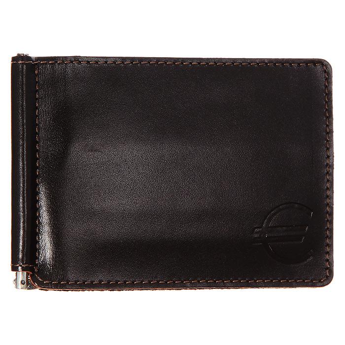 Зажим для денег Askent, цвет: черный. Z.6.TXZ.6.TX черныйСтильный зажим для денег Askent выполнен из натуральной кожи черного цвета и металлического зажима. Лицевая сторона дополнена тиснением знак евро. Внутри также имеются шесть прорезных карманов для кредитных карт, визиток и прочих бумаг. Такой зажим станет отличным подарком для человека, ценящего качественные и красивые вещи.