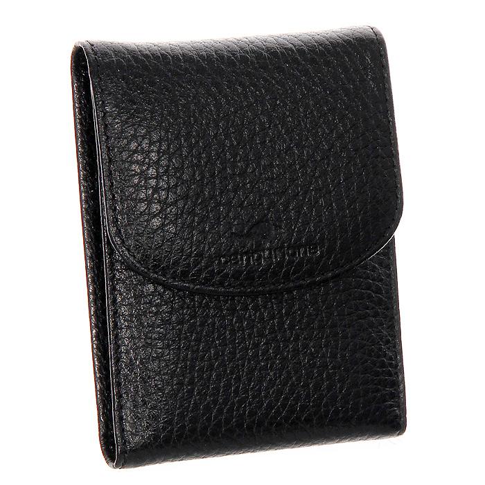 Визитница Cangurione, цвет: черный3103-001 F/BlackКомпактная визитница Cangurione - стильная вещь для хранения визиток. Визитница выполнена из натуральной кожи черного цвета. Внутри находится блок из прозрачного пластика, рассчитанный на 18 визиток и два дополнительных прозрачных кармана. Визитница закрывается на кнопку. Такая визитница станет замечательным подарком человеку, ценящему качественные и практичные вещи. Визитница упакована в коробку из плотного картона с логотипом фирмы.
