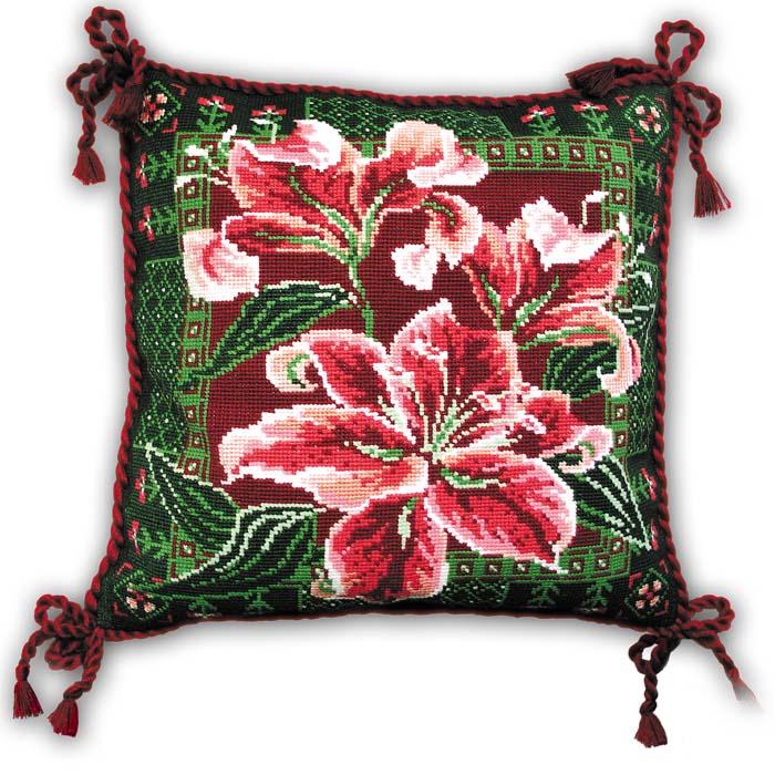 """Набор для вышивания """"Подушка """"Лилии"""", 40 см х 40 см ( 656 )"""