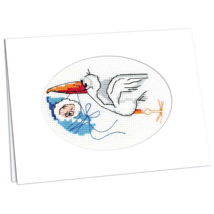 Набор для вышивания крестом Открытка. С новорожденным!, 11,8 см х 16,4 см995Создайте прекрасную открытку с помощью набора для вышивания крестом Открытка. С новорожденным!. Набор содержит все необходимое для создания открытки: канва белого цвета, готовое картонное паспарту с окошком под вышивку, игла, специальные нити. Открытка, сделанная своими руками, приятно удивит и порадует дарителя.