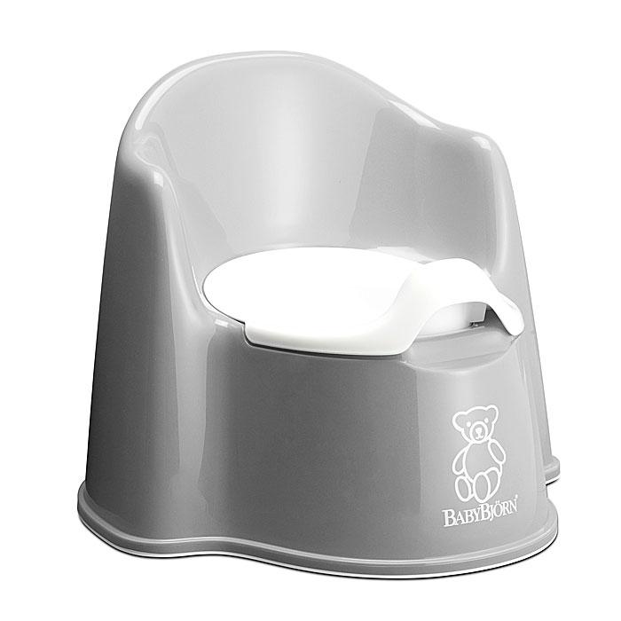 Горшок-кресло BabyBjorn, цвет: серый0551,25Ваш малыш будет в восторге от горшка-кресла BabyBjorn, ведь это личный маленький туалет. Специальный дизайн спинки, высокие и удобные подлокотники позволяют ребенку комфортно сидеть так долго, как это необходимо. Внутренняя часть горшка легко вынимается и моется отдельно. По анатомической форме подходит как девочкам, так и мальчикам. Особенности детского горшка-кресла BabyBjorn: высокая и удобная спинка; удобные подлокотники; достаточное пространство для ног; действенная защита от брызг предотвращает ненужное разбрызгивание; устойчиво стоит на месте благодаря резиновым планкам; прочная пластмасса, которая поддается утилизации.