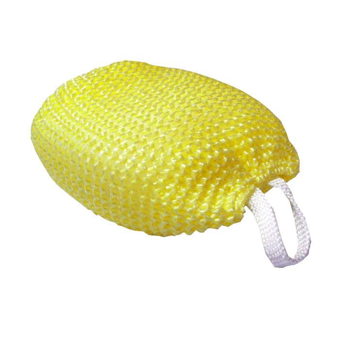 Мочалка массажная, желтый