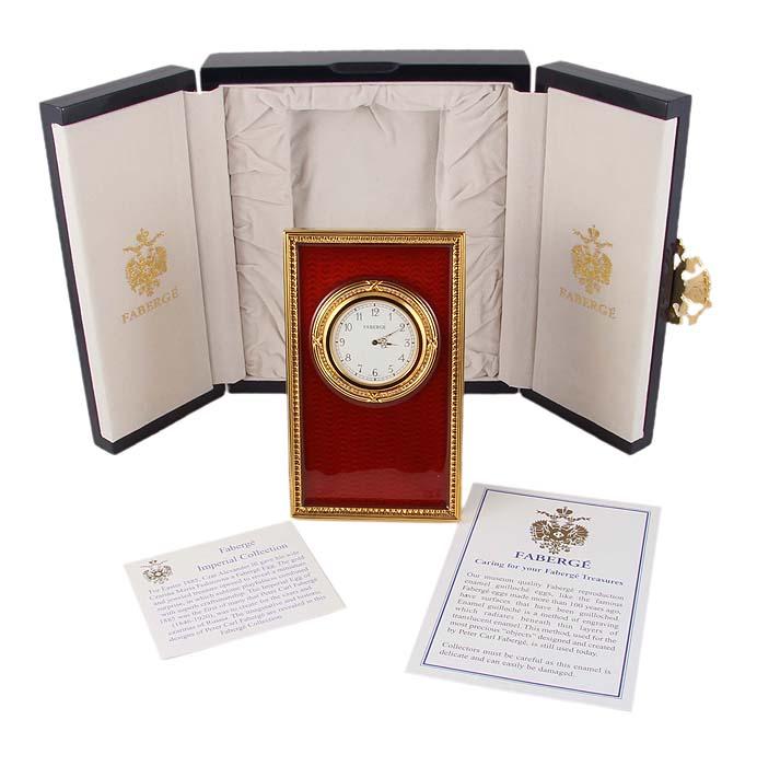 Часы Принц Феликс. Металл, позолота, эмаль гильош, швейцарский механизм, австрийские кристаллы, House of Faberge, 1970-1980-е гг