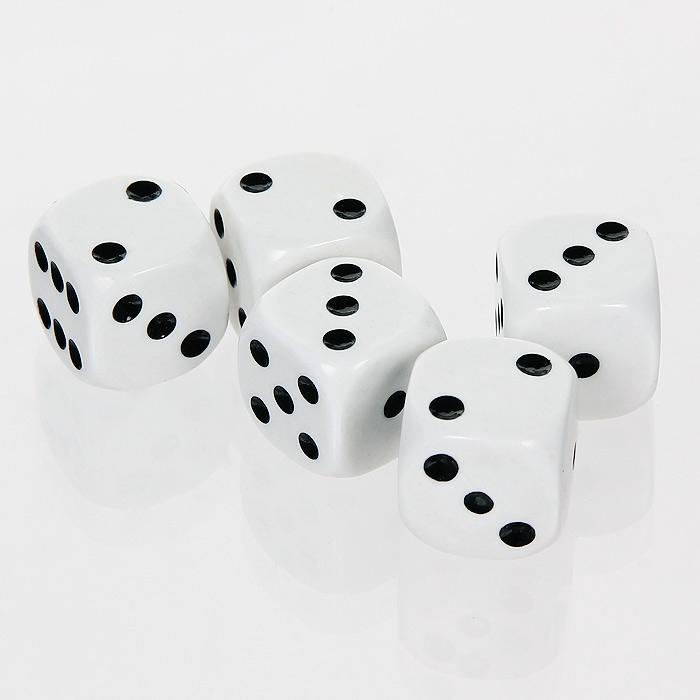 Набор игральных костей Компания Игра, 5 шт. 29812981Набор состоит из пяти игральных костей со значение на гранях от 1 до 6.