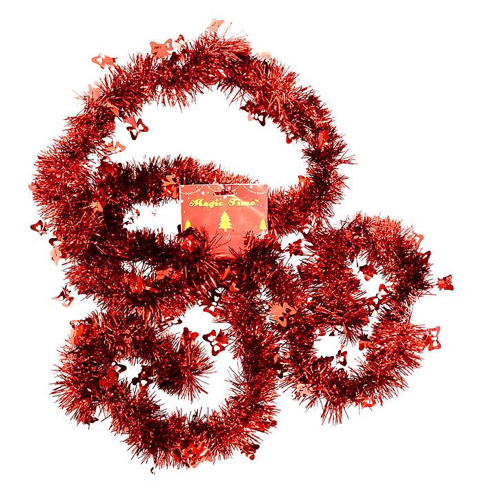 """Новогодняя мишура """"Magic Time"""", цвет: красный, 270 см. 20456"""