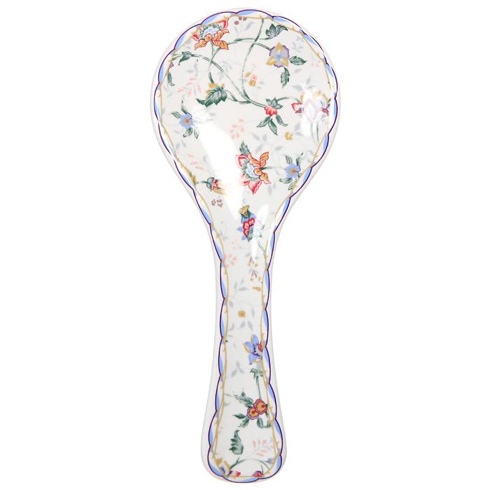 Подставка под ложку Imari БукингемIMF0304-A218ALПодставка под ложку Букингем изготовлена из высококачественной керамики и оформлена цветочным узором. Подставка станет отличным дополнением к вашему кухонному инвентарю, а также украсит сервировку стола и подчеркнет прекрасный вкус хозяина. Характеристики: Материал: керамика. Диаметр: 10 см. Общая длина: 25 см. Размер упаковки: 25,5 см х 10,5 см х 2,5 см. Производитель: Китай. Артикул: IMF0304-A218AL.