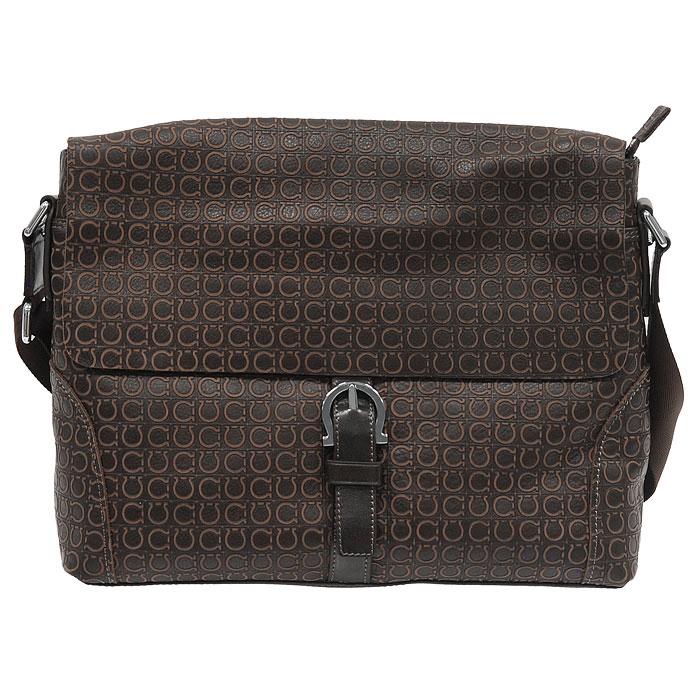 """Мужская сумка Flioraj  """"Coffeе """" выполнена из натуральной кожи коричневого..."""