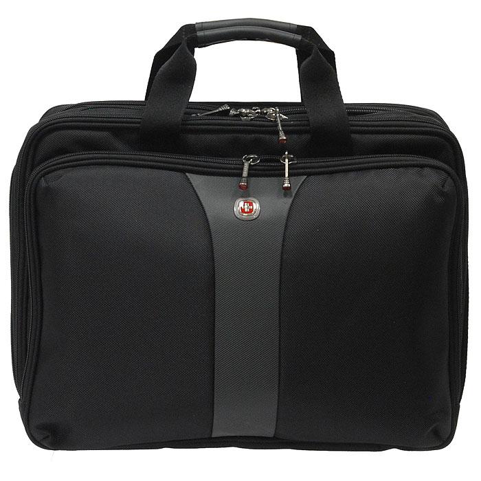 """Сумка Wenger  """"Legacy """" для ноутбука, цвет: черный, серый, WENGER."""