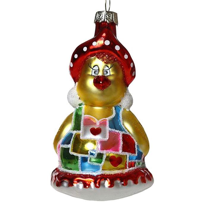 Новогоднее подвесное украшение Курочка. 2217422174Новогоднее украшение Курочка отлично подойдет для декорации вашего дома и новогодней ели. Игрушка выполнена из стекла в виде курочки, украшенной блестками. Елочная игрушка - символ Нового года. Она несет в себе волшебство и красоту праздника. Создайте в своем доме атмосферу веселья и радости, украшая всей семьей новогоднюю елку нарядными игрушками, которые будут из года в год накапливать теплоту воспоминаний. Коллекция декоративных украшений из серии Magic Time принесет в ваш дом ни с чем не сравнимое ощущение волшебства!