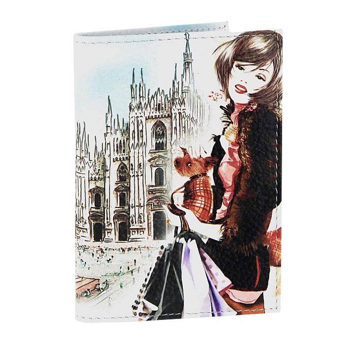 Визитница Perfecto Милан. VZ-GL-106VZ-GL-106Компактная вертикальная визитница Милан - стильная вещь для хранения визиток. Обложка визитницы выполнена из натуральной кожи и оформлена оригинальным изображением. Визитница предназначена для хранения 18 визиток.