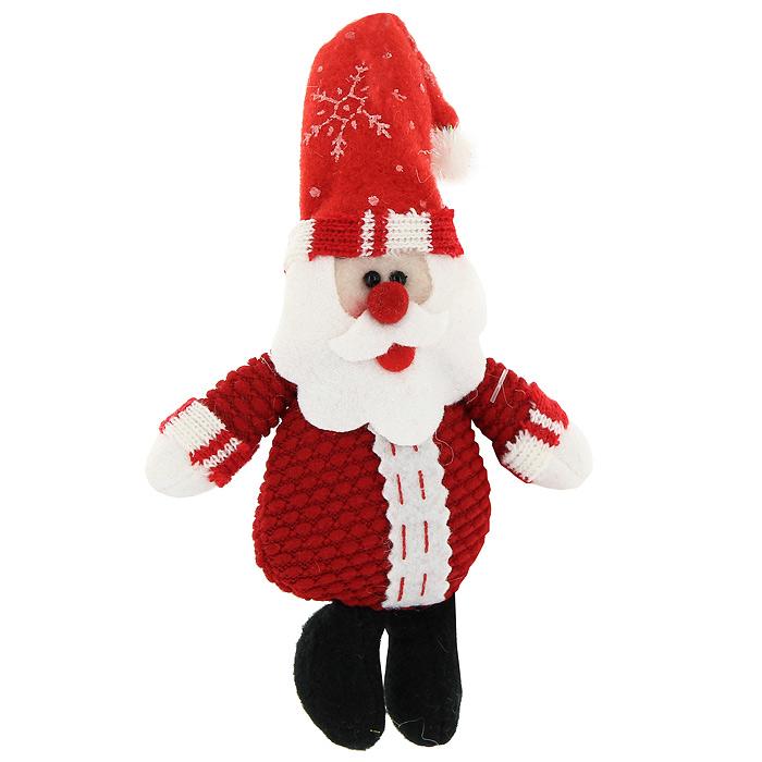 Новогоднее подвесное украшение Санта. 2001220012Новогоднее украшение Санта отлично подойдет для декорации вашего дома. Вы можете подвесить его в любом месте, где оно будет удачно смотреться, и радовать глаз. Кроме того, это украшение - отличный вариант подарка для ваших близких и друзей. Новогодние украшения всегда несут в себе волшебство и красоту праздника. Создайте в своем доме атмосферу тепла, веселья и радости, украшая его всей семьей. Характеристики: Материал: текстиль. Высота 17 см. Изготовитель: Китай. Артикул: 20012.