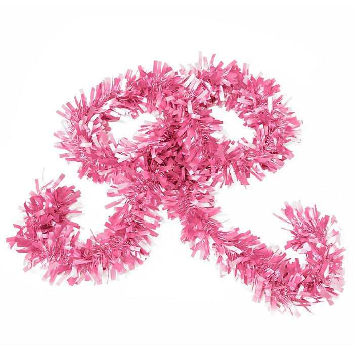Новогодняя мишура Magic Time, цвет: розовый, 270 см. 20452