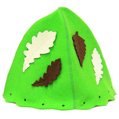 """Еватекс Шапка для бани и сауны """"Банный лист"""", цвет: зеленый Б4717"""