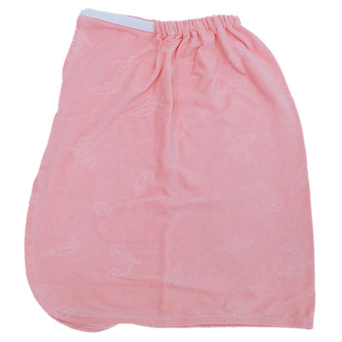 Парео детское Юная банщица, цвет: розовыйБ2621Парео детское Юная банщица выполнено из натурального хлопка, поэтому хорошо поглощает влагу и не вызывает раздражения. Парео - это многофункциональное полотенце специального покроя с резинкой и застежкой на липучке. В парилке можно лежать на таком парео, после душа вытираться, а во время отдыха использовать как удобную накидку. Рекомендуемый рост: 128-146 см.