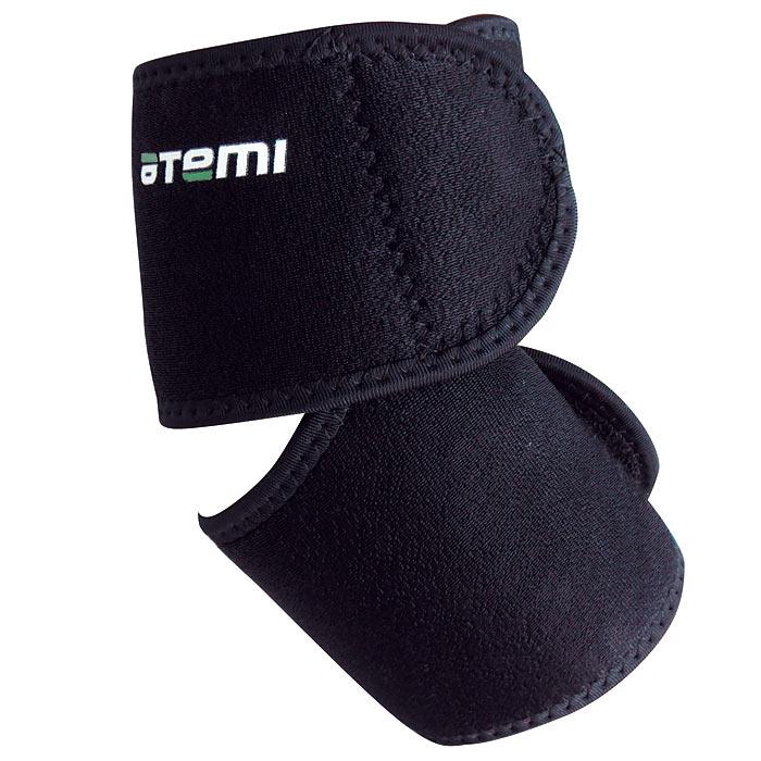 Суппорт локтя Atemi, открытый, безразмерный. ANS-007ANS-007Суппортер Atemi идеально фиксирует локоть. Способствует снижению боли при растяжениях связок руки. Обеспечивает максимальный комфорт. Благодаря липучкам идеально фиксирует локоть. Рекомендуется при активной физической нагрузке. Удерживает тепло, улучшает кровообращение, оказывает целебное действие при ушибах и растяжениях.