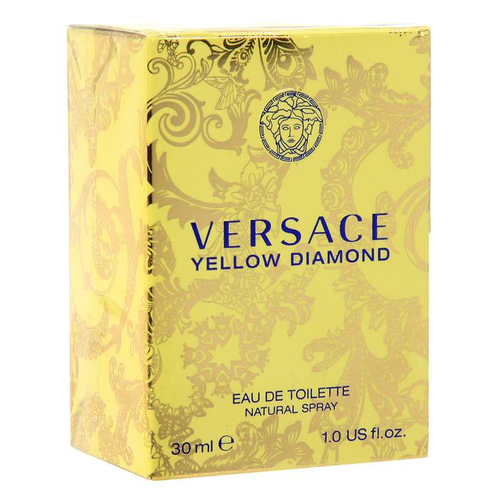 Versace Yellow Diamond. Туалетная вода, 30 мл520028Yellow Diamond – роскошный аромат от Versace. Подобный солнечному свету, необыкновенно яркий, лучистый желтый сверкает так, как способен только настоящий бриллиант. Чистая чувственность, чистая прозрачность, чистый свет. Еще одна настоящая драгоценность редкой красоты раскрывается в свежем и ярком цветочном аромате; пленительный и волнующий аромат для истинной женственности, уверенной в своем шарме, гармонирует с безошибочно узнаваемым стилем Versace. Верхние ноты: Лимон из Диаманте, Бергамот, Грушевый сорбет, Нероли; Средние ноты: Белая водяная лилия, Фрезия, Цветы апельсина, Мимоза; Базовые ноты: Амбровое дерево, Древесина пало санто, Мускус Характеристики: Объем: 30 мл. Производитель: Италия. Туалетная вода - один из самых популярных видов парфюмерной продукции. Туалетная вода содержит 4-10% парфюмерного экстракта. Главные достоинства данного типа продукции заключаются в доступной цене,...