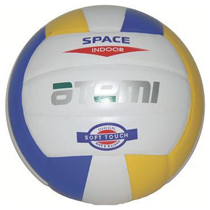 """Atemi Мяч волейбольный Atemi """"Space"""", цвет: белый, желтый, синий. Размер 5"""