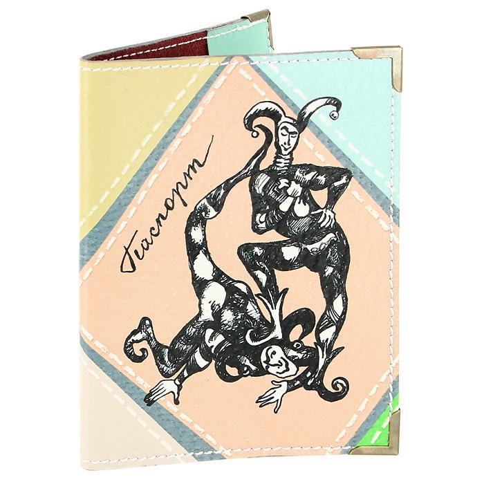 Обложка для паспорта Шутники512Обложка для паспорта Шутники, выполненная из натуральной кожи, оформлена авторским рисунком. Такая обложка не только поможет сохранить внешний вид ваших документов и защитит их от повреждений, но и станет стильным аксессуаром, идеально подходящим вашему образу. Яркая и оригинальная обложка подчеркнет вашу индивидуальность и изысканный вкус. Обложка для паспорта стильного дизайна может быть достойным и оригинальным подарком.