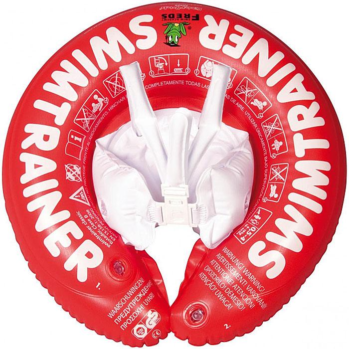 Круг надувной красный SWIMTRAINER от 3-х месяцев до 4-х лет.