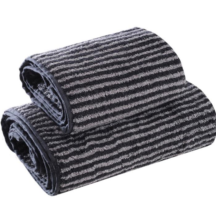 Набор полотенец Ilta (Илта), цвет: черно-серый, 34 см х 76 см, 50 см х 100 см116Махровые полотенца коллекции Ilta (Илта), выполнены из натурального хлопка, деликатно ухаживают за кожей, хорошо поглощают влагу и дарят необыкновенную мягкость и комфорт. Этим полотенцам не страшна многократная стирка - они не теряют своей яркости и мягкости благодаря качественной махровой ткани. Характеристики: Материал: хлопок. Размер: 34 см х 76 см, 50 см х 100 см. Цвет: черно-серый. Производитель: Россия. Артикул: 116.