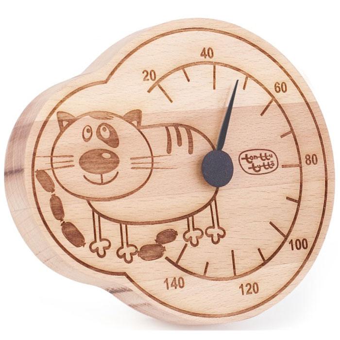 Термометр для бани и сауны Tapio (Тапио). 257257Термометры серии Tapio (Тапио) выполнены из древесины бука, обладающего притягательным розоватым цветом, ее плотность прекрасно переносит перепады температуры, что увеличивает срок службы изделий. Созданные для контроля оптимальной температуры в бане и сауне, они задают стиль банного интерьера. Стрелка механизма меняет настроение озорных персонажей термометров в зависимости от температуры. Максимальная измеряемая температура - 140 градусов. Характеристики: Размер термометра: 13,5 см х 16 см. Материал: дерево, металл. Производитель: Россия. Артикул: 257.