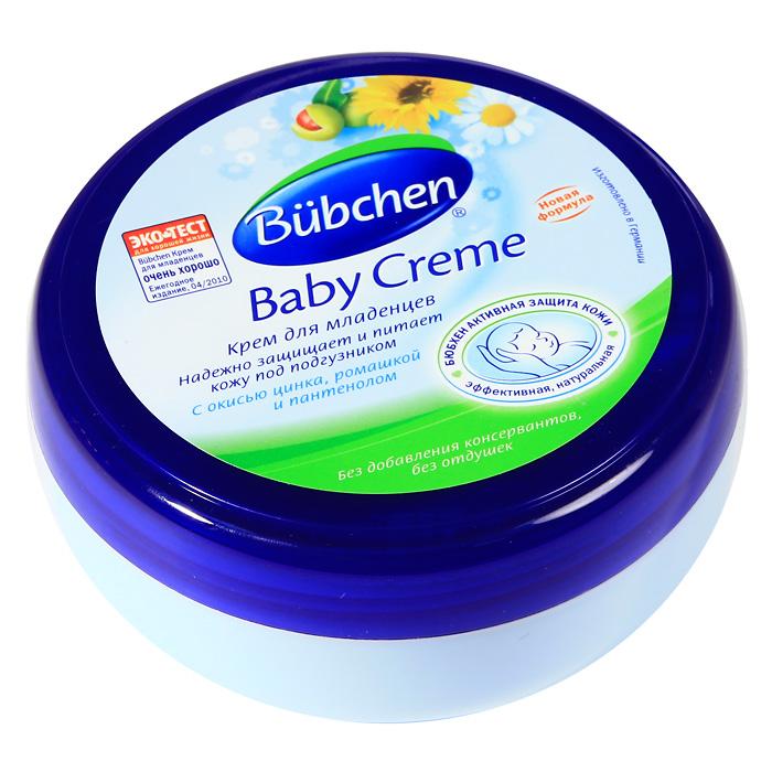 Крем для младенцев Bubchen (Бюбхен), 150 мл11351Крем для младенцев Bubchen особенно эффективно защищает кожу в местах, закрытых пеленкой или подгузником. Идеален для профилактики опрелостей. Прекрасно снимает раздражение и воспаление, а также ухаживает за кожей в области ягодиц и паховой области. Идеален для длительных ночных пауз. Особенности: с натуральным экстрактом ромашки; с оксидом цинка, маслом зародышей пшеницы и пчелиным воском; без парафинового масла; без красителей и консервантов.