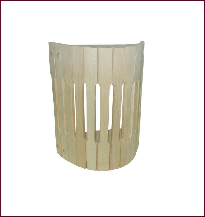 Абажур для светильника Банные штучки32143Настенный абажур для светильника Банные штучки украсит интерьер вашей бани и сауны. Абажур выполнен из липы.