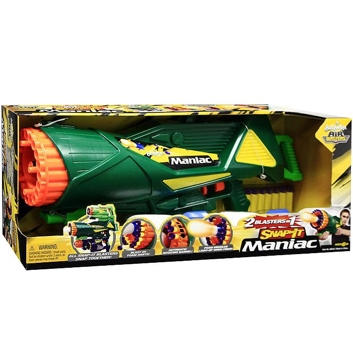 Бластер ракетный Air Blasters. 6824368243Десятиствольный бластер Air Blasters привлечет внимание ребенка и позволит ему почувствовать себя во всеоружии. Набор состоит из бластера, двух ракет в виде губок с подсветкой, и 20 патронов-присосок для него. Поражает цель на расстоянии до 12 метров. Автоматическое вращение барабана происходит после каждого выстрела. Может скрепляться с другими бластерами, образуя сложный тройной бластер. Порадуйте своего ребенка таким замечательным подарком! Характеристики: Материал: пластик, вспененный полимер. Длина ракеты: 16 см. Длина присоски: 7 см. Дальность выстрела: 12 м. Размер бластера: 54,5 см x 21,5 см x 14 см. Размер упаковки: 58 см x 24 см x 14,5 см.