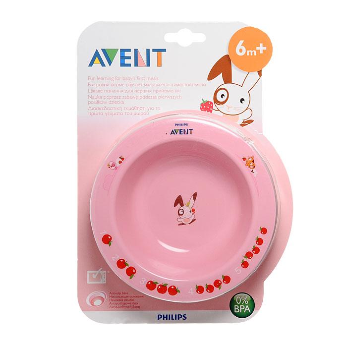 Глубокая тарелка Avent (Авент), от 6 месяцев, 230 мл, цвет: розовый65636Тарелка Avent украшена веселыми и красочными развивающими рисунками. Широкие края и нескользящее основание, которое предотвращает ее скольжение и переворачивание, помогают малышу учиться есть самостоятельно. Тарелку можно мыть в посудомоечной машине и разогревать в микроволновке. Характеристики: Размер тарелки: 14 см х 14 см х 4 см. Объем: 230 мл. Материал: полипропилен. Рекомендуемый возраст: от 6 месяцев. Размер упаковки: 17 см х 24 см х 4,5 см. Изготовитель: Китай. Товар сертифицирован.