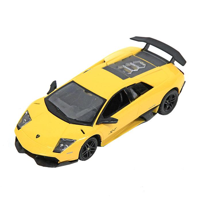 Rastar Модель автомобиля Lamborghini Murcielago LP670-439400Замечательная яркая машинка Lamborghini Murcielago LP670-4 привлечет внимание вашего ребенка и не позволит ему скучать, ведь так интересно и захватывающе покатать свою машину или устроить гонку с другом. Машинка является точной уменьшенной копией настоящего автомобиля. Модель выполнена из металла с использованием пластика и поставляется в фирменной картонной коробке с прозрачным пластиковым окошком. Ваш ребенок часами будет играть с машинкой, придумывая различные истории и устраивая соревнования. Порадуйте его таким замечательным подарком!