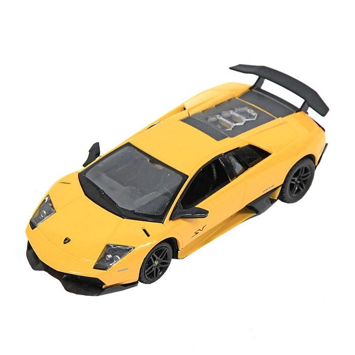 Модель автомобиля Lamborghini Murcielago LP670-4. Масштаб 1/43. 3950039500_желтыйЗамечательная яркая машинка Lamborghini Murcielago LP670-4 привлечет внимание вашего ребенка и не позволит ему скучать, ведь так интересно и захватывающе покатать свою машину или устроить гонку с другом. Машинка является точной уменьшенной копией настоящего автомобиля. Модель выполнена из металла с использованием пластика и поставляется в фирменной картонной коробке с прозрачным пластиковым окошком. Ваш ребенок часами будет играть с машинкой, придумывая различные истории и устраивая соревнования. Порадуйте его таким замечательным подарком!