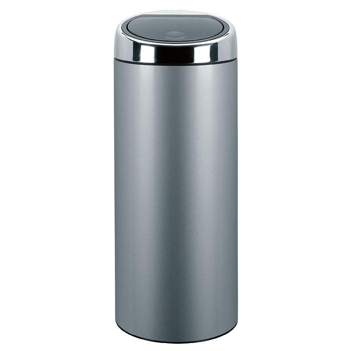 Бак мусорный Brabantia Touch Bin, цвет: металлик, 30 л287404Стильный Touch Bin на 30 литров – непременный атрибут каждой гостиной или кухни. Порадуйте себя и удивите гостей! Бесшумное открывание/закрывание крышки легким касанием – система soft touch; Удобная смена мешков для мусора – съемный блок крышки из нержавеющей стали; Удобная очистка – съемное внутреннее ведро из пластика с вентиляционными отверстиями, предотвращающими образование вакуума при вынимании полного мусорного мешка; Легкое перемещение с места на место – прочная ручка для переноски; Предохранение пола от повреждений – пластиковый защитный обод; Бак изготовлен из коррозионно-стойких материалов – долговечность и удобство в очистке; Всегда опрятный вид – идеально подходящие по размеру мешки для мусора с завязками (размер C); 10-летняя гарантия Brabantia. Цвет: серый металлик