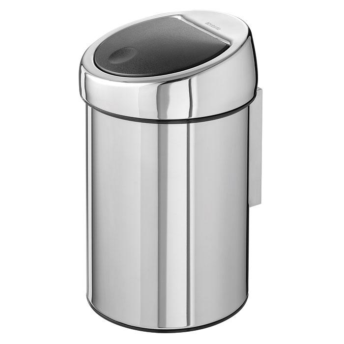 Ведро для мусора Brabantia Touch Bin, 3 л. 363962363962Ведро для мусора Brabantia Touch Bin, выполненное из антикоррозийной полированной стали, обеспечит долгий срок службы и легкую чистку. Ведро поможет вам держать мелкий мусор в порядке и предотвратит распространение неприятного запаха. Съемная крышка, выполненная из нержавеющей стали и пластика, открывается и закрывается нажатием с характерным щелчком. Пластиковое основание ведра предотвращает повреждение пола. Внутренняя часть ведра - это корзина, выполненная из пластика. Ведро укомплектовано съемным настенным держателем из нержавеющей стали (в комплект входят два шурупа и два дюбеля). В комплекте с ведром идет упаковка с подходящими по размеру мусорными мешками фирмы Brabantia, которые оснащены затяжными шнурками.