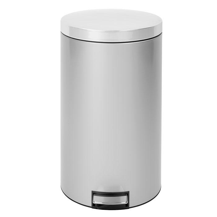 Бак мусорный Brabantia Бесшумный, с педалью, цвет: металлик, 45 л428401Вместительный бак для отходов размера XXL с бесшумной крышкой, закрывающейся мягко и бесшумно благодаря специальному механизму MotionControl. Идеальное решение для большой семьи и сбора большого количества мусора. Механизм MotionControl обеспечивает мягкое действие педали и бесшумное открывание крышки; Удобный в использовании - при открывании вручную крышка фиксируется в открытом положении, закрывается нажатием педали; Удобная очистка – съемное внутреннее ведро из пластика с вентиляционными отверстиями, предотвращающими образование вакуума при вынимании полного мусорного мешка; Бак удобно перемещать - прочная ручка для переноски; В комплекте с баком одна бесплатная упаковка идеально подходящих по размеру мешков для мусора Brabantiaс завязками (размер L) – всегда опрятный вид; 10-летняя гарантия Brabantia.
