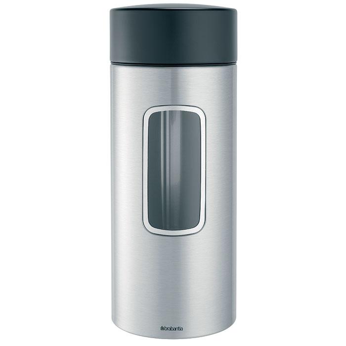 Банка для продуктов Brabantia 2,2 л 371844371844Высокий цилиндрический контейнер вместимостью 2,2 литра отлично подойдет для хранения спагетти и других продуктов. Специальная защелкивающаяся крышка не пропускает запахи и позволяет дольше сохранять аромат и свежесть продуктов. Контейнер имеет гладкую внутреннюю поверхность и легко чистится; Прозрачное окошко из антистатических материалов, благодаря которому вы всегда знаете, что и в каком количестве содержится в каждом контейнере; Практичное решение для хранения макаронных изделий и других продуктов, позволяющее дольше сохранять их свежесть; Изготовлен из коррозионностойкой крашеной или лакированной стали с защитным цинкалюминиевым покрытием; Специальная защелкивающаяся не пропускающая запах крышка; Основание с защитным покрытием; 10-летняя гарантия Brabantia. Характеристики: Материал: нержавеющая сталь, пластик, акрил. Объем банки: 2,2 л. Высота банки (без учета крышки): 25 см. Диаметр банки: ...