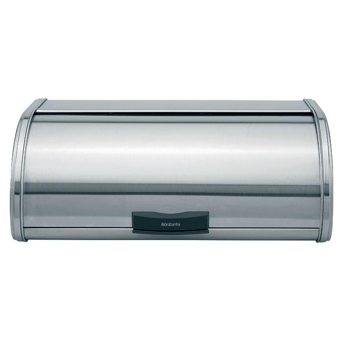 Хлебница Brabantia Touch Bin, цвет: матовый стальной397066Хлебница Brabantia Touch Bin, изготовленная из высококачественной матовой стали, прекрасно сохранит хлеб свежим, а также украсит вашу кухню. Хлебница не поглощает запахов и не окрашивается, сверху имеет плоскую ровную основу для складывания коробок и банок. Крышка не занимает дополнительного места для открытия и оснащена фирменной системой закрытия soft-touch - бесшумно открывается одним нажатием. Ручка предотвращает качание крышки, обеспечивая дополнительную устойчивость, а поверхность с отверстиями у основания - дополнительную циркуляцию воздуха. Эксклюзивный дизайн, эстетика и функциональность хлебницы делают ее превосходным аксессуаром на вашей кухне. Характеристики: Материал: нержавеющая сталь. Цвет: матовый стальной. Размер хлебницы: 44,5 см х 25,5 см х 16,5 см. Размер упаковки: 45,5 см х 27,5 см х 18,5 см. Артикул: 397066. Гарантия производителя: 5 лет.