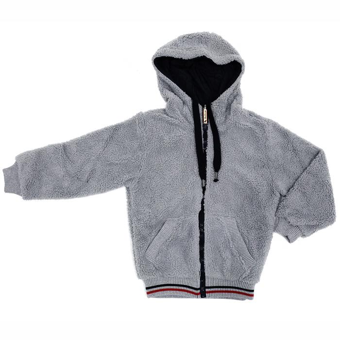 """Ветровка двусторонняя """"Gulliver"""", цвет: серый, черный. Рост 146 см, 11 лет"""