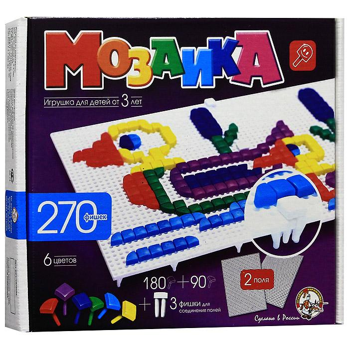Мозаика, 270 фишек00977Мозаика - увлекательная развивающая игра для ваших детей. Она разовьет у ребенка творческие способности, воображение, координацию движений, мелкую моторику рук и ориентировку на плоскости. Рисунки, представленные на упаковке, являются только примером, так как эта универсальная мозаика раскрывает перед ребенком неограниченные возможности моделирования и создания множества своих собственных рисунков.