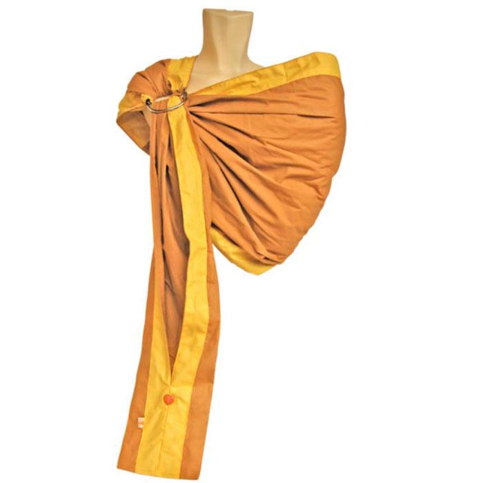"Слинг на кольцах ""Бабочка"", цвет: горчичный, желтый. Размер S, Чудо-Чадо"