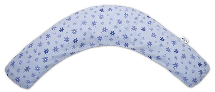 """Подушка Theraline """"Цветочки"""" для беременных и кормящих мам, цвет: голубой, 170 см"""