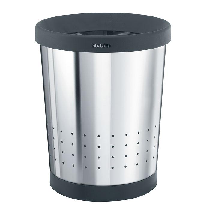 Корзина для бумаг Brabantia, 11 л. 364327364327Корзина для бумаг Brabantia, выполненная из антикоррозийной полированной стали, обеспечит долгий срок службы и легкую чистку. Корзина поможет вам держать мелкий мусор в порядке в гостиной, спальне, офисе, кабинете и комнате ребенка. Корзина имеет специальные вентиляционные отверстия. Пластиковое основание корзины предотвращает повреждение пола. Корзина оснащена съемным верхним ободом, который скрывает мусорный пакет и фиксирует его. В комплекте с корзиной для бумаг идет упаковка с подходящими по размеру мусорными мешками фирмы Brabantia, которые оснащены затяжными шнурками.