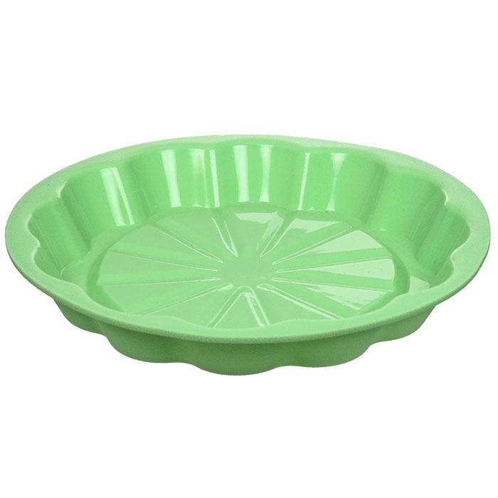Форма для выпечки Marmiton Апельсин, цвет: салатовый, диаметр 24,5 см16031Форма Marmiton Апельсин выполнена из силикона, благодаря этому выпечку вынимать легко и просто. Материал устойчив к фруктовым кислотам, может быть использован в духовках и микроволновых печах. Можно мыть и сушить в посудомоечной машине. Диаметр (по верхнему краю): 24,5 см. Диаметр дна: 19 см. Высота стенки: 3,5 см.